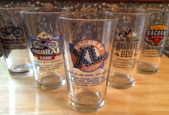 RAGBRAI Pint Glasses Make Nice Host Gifts