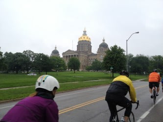 RAGBRAI Route Inspection Pre-Ride Day 4 - Des Moines to Knoxville
