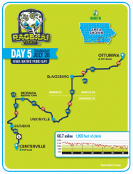 RAGBRAI Route: Thursday, July 28 - Centerville to Ottumwa