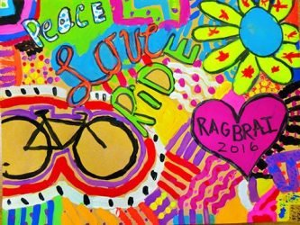 Congratulations to Grace from Shenandoah for Winning the 2016 RAGBRAI Kid's Art Contest
