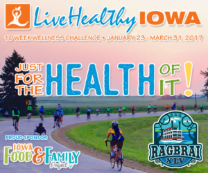 Gear up for RAGBRAI with Live Healthy Iowa's 10 Week Wellness Challenge