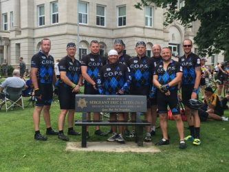 Iowa C.O.P.S. Team Awarded RAGBRAI Rider Cup